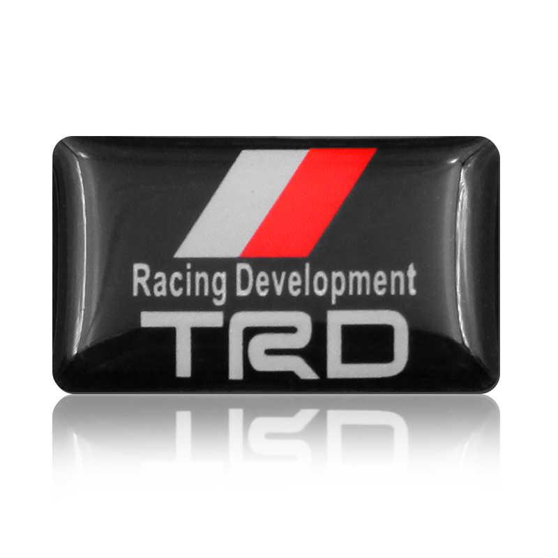 1 piezas estilo de coche pequeño decorativo placa tapas de cubo de rueda para Toyota COROLLA corona REIZ TRD de carreras de coche logotipo accesorios