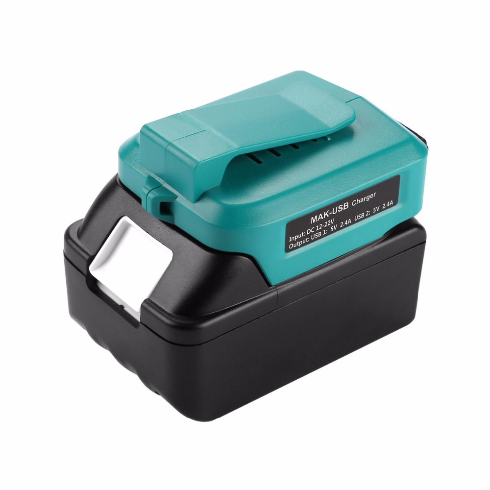 ADO05 For Makita 12V-<font><b>22V</b></font> Lithium Battery USB Rechargeable Phone Converter <font><b>Adapter</b></font> image