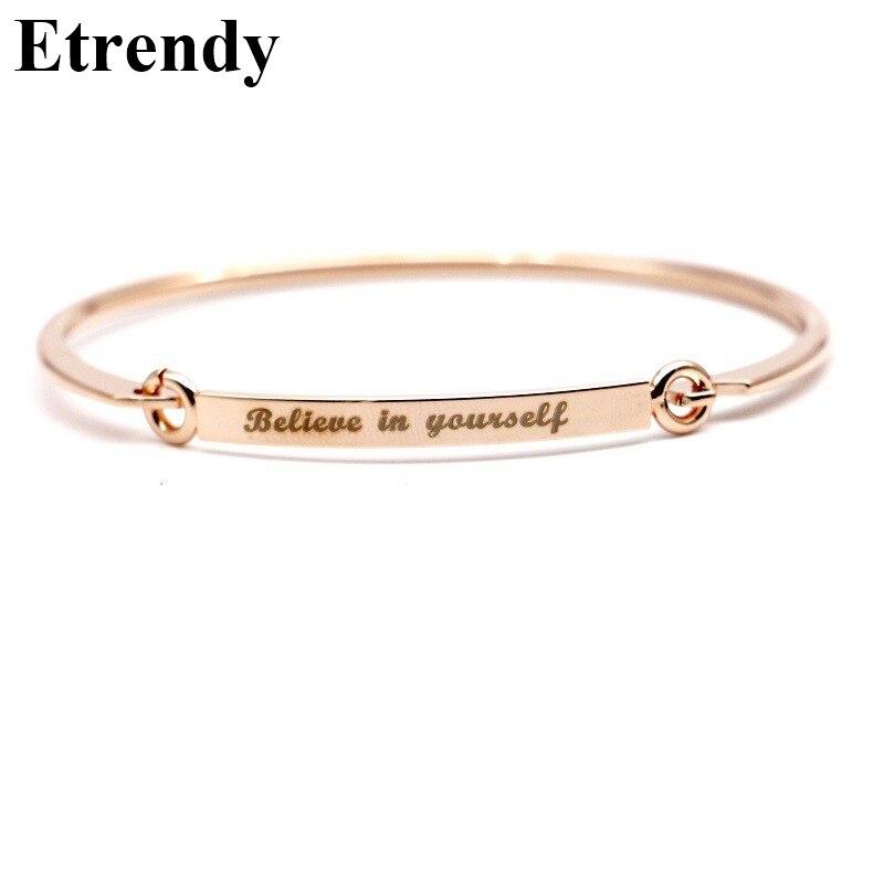 Letter Bracelet Women Simple Best Friend Bracelets & Bangles Cute ...