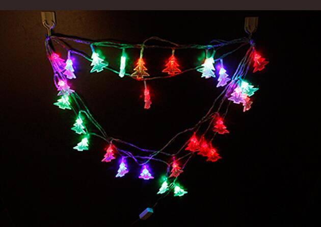 2pcs Solar Power LED Christmas Tree Lamp Light multicolour String Strap For Garland Wedd ...