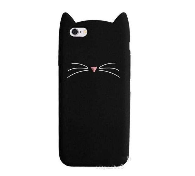 Cat Beard Silicone Phone Case for iPhone 7 Plus 5S SE 5 6S 6