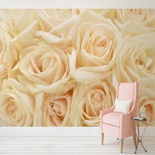 Free Shipping A few meters large mural television wall backdrop sofa wall wallpaper wallpaper wall wall TV rose petals все цены