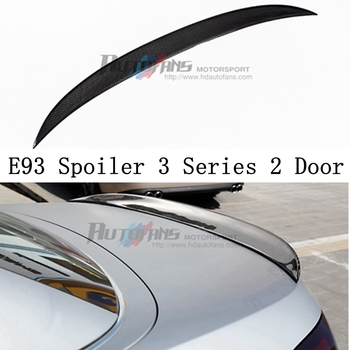 High quality Carbon Fiber Rear Wing Spoiler Tail Trunk Lid boot lip spoiler Wing P Style for BMW E93 325i 328i 335i M3 2006-2013