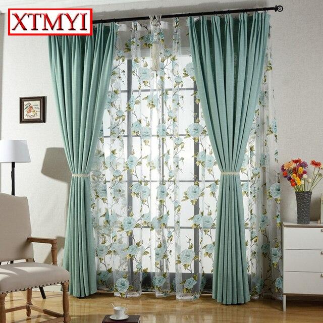 Modernen Stil Feste Farbe Faux Plain Bettwäsche Verdunkelungsvorhang Für  Wohnzimmer Fenster Nach Maß