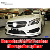 Mercedes CLA class W117 2014 + vehicle front bumper spoiler splitter cup flaps for CLA180 CLA200 CLA220 CLA250 CLA45 AMG style