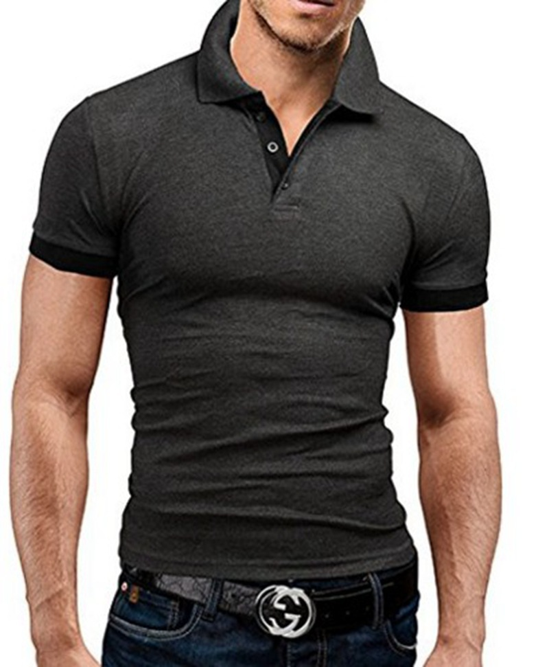 2019 Solid Color Men's   Polo   Shirt High Quality Men's Cotton Short-Sleeved Shirt Summer Shirt Large Size S-5XL