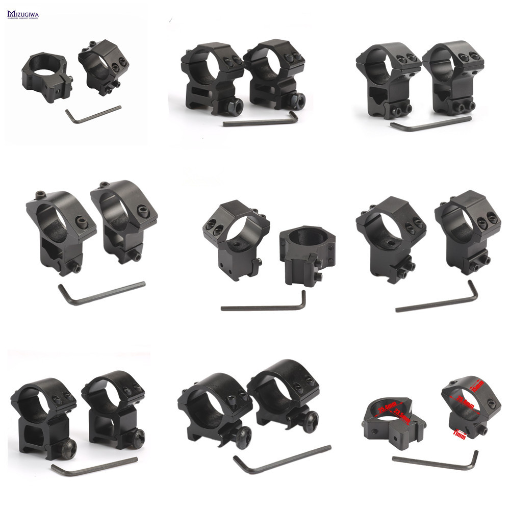 1Pair 30mm/25.4mm Rifle Scope Mount Ring Weaver 11mm / 20mm Base Rail Air Rifle Hunting Dovetail Rail Caza Hunting Accessories(China)