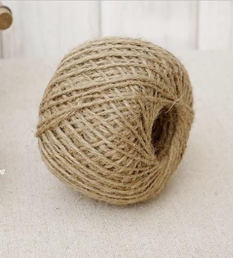 1 roll 29 metros cuerda de yute cuerda de camo hilo de yute cuerda de bricolaje 15mm de color natural