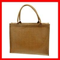 1 sztuk/partia eko torba na zakupy z juty