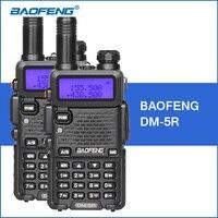 2 قطعة/الوحدة baofeng 5r نسخة مطورة DM-5R dmr الرقمية راديو uhf vhf 136-174 ميجا هرتز/400-480 ميجا هرتز المحمولة يتحملها 2000 مللي أمبير 5 واط