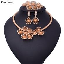 2019 Luxury fashion Jewelry sets For Women Wedding Cubic Zirconia Flower African  turkish Sets bridal jewelry set