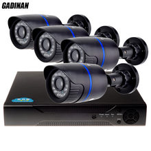 GADINAN 720P CCTV System AHD Kit 2000tvl 4CH 720P AHD-NH DVR 1920*720 1.0MP AHD-M Camera Mini CCTV Kit Surveillance System