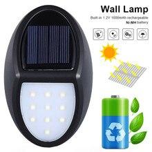 10 LED Solar Wall Light Outdoor Garden Waterproof IP65 Wirel