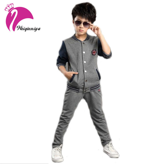 New Brand children's sports suit boys long sleeve clothing sets spring/autumn jacket+pants suit baby boys wear boys clothes