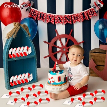 OurWarm Nautical Baby Souvenirs Wedding Favors and Gifts 50pcs Lifesaver Bottle Opener +Tags+Rope Party for Kids Birthday - discount item  45% OFF Festive & Party Supplies