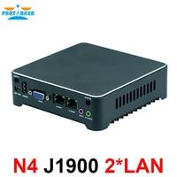 Nano PC NUC J1900 N2805 Fanless Mini PC Windows 7 10 Quad Core Dual LAN NIC 1 HDMI Mini Computer