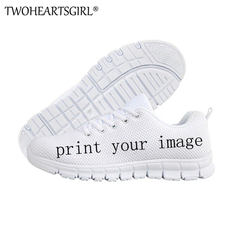 Deuxceursgirl privé personnalisé femmes baskets Cool Design décontracté chaussures plates respirant confortable été femmes mode chaussures plates