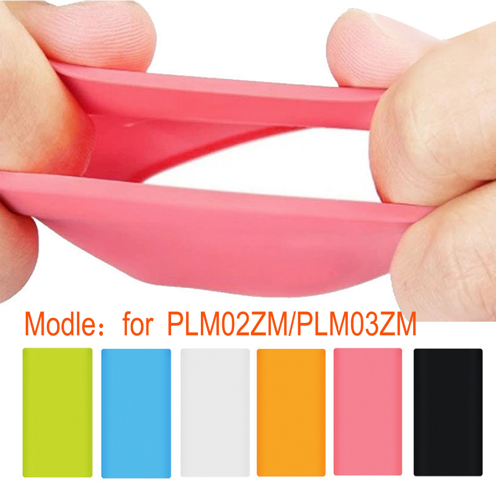 Besegad Portable Silicone <font><b>Powerbank</b></font> Protection Case Cover Skin Shell for <font><b>Xiaomi</b></font> Xiao Mi Xiomi <font><b>PowerBank</b></font> <font><b>2</b></font> 10000mAh Accessories image