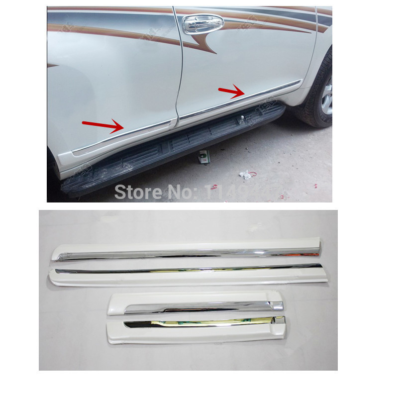 Car Side Door Body Molding Streamer For Toyota Prado FJ150 2014 2015 4pcs blade side windows deflectors door sun visor shield for toyota verso ez 2011 2014
