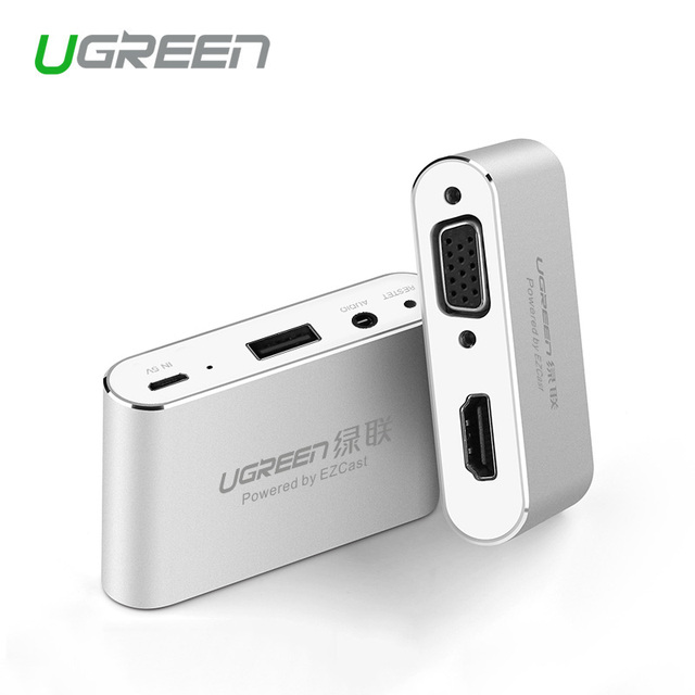 Ugreen 3 en 1 USB vers HDMI VGA + convertisseur Audio vidéo adaptateur AV numérique pour iPhone 6S Plus Ipad Samsung iOS Android