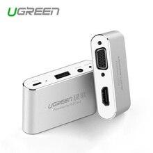 Ugreen 3 w 1 USB na HDMI VGA + konwerter Audio wideo cyfrowy Adapter AV dla iPhone 6S Plus Ipad Samsung iOS Android