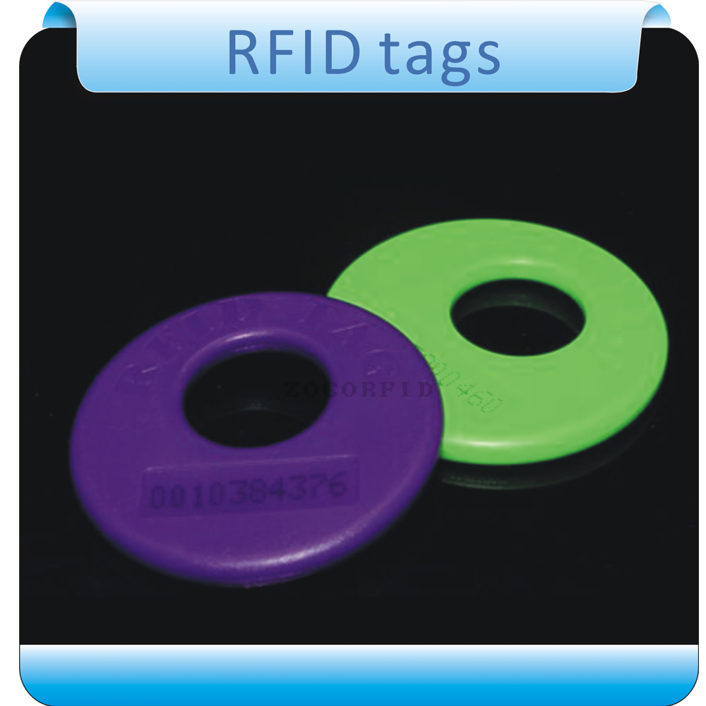 Free shipping 100pcs customized/ 125KHZ  TK4100  RFID tag /wash label/ care labels+ 1pcs reader