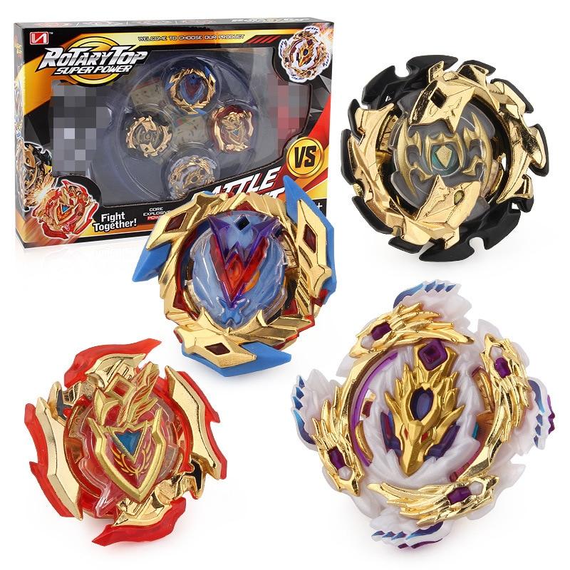 4 piezas en caja bayblade Kai Watch Land 4D lanzador de Arena de lucha batalla fusión clásico juguetes B48 B66 B34 B59 caja Original Gif