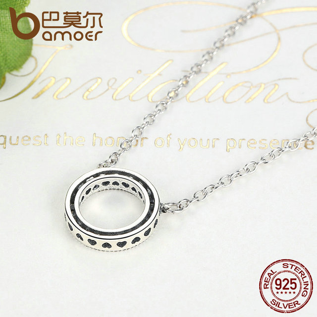 Sterling Silver Hearts Of Brand Shape Necklace