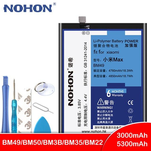NOHON BM49 BM50 BM3B BM22 BM35 סוללה עבור שיאו mi mi 5 4C Max mi x 2 Max2 mi x2 החלפת Bateria טלפון סוללות + כלים חינם