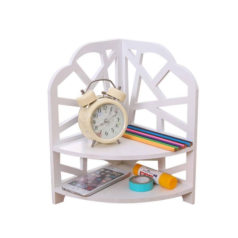DIY Desktop Storage Racks Creative Organising Shelf Makeup Stationery Cosmetic Sundries Handmade Assembly Wood Storage Box