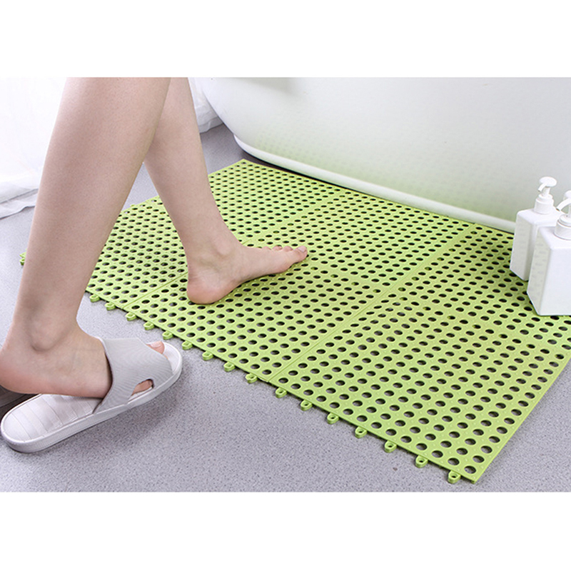Home Kitchen Mat PVC Bathroom Mat Home Non-slip Safety Drainage Waterproof Mat Shower Mat Bathroom Accessories 30*30cm