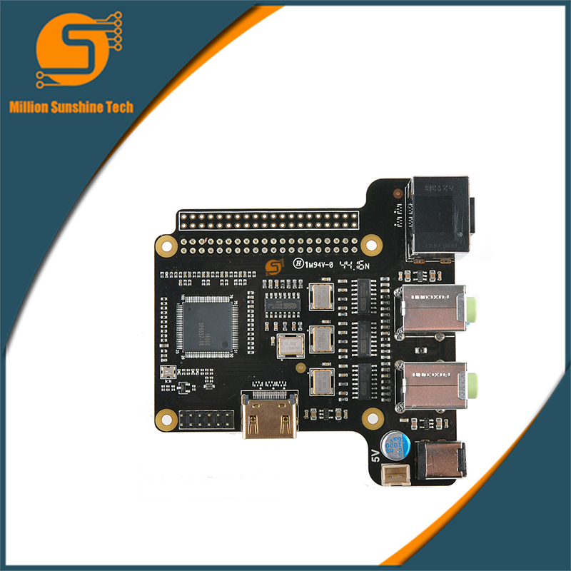 Free shipping X6000-7.1CH Expansion Board for Raspberry Pi 1 Model B+/ 2 Model B / 3 Model B With Power Supply suptronics x series x200 expansion board special board for raspberry pi model b