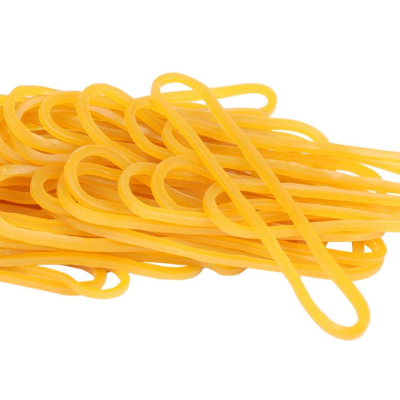 500 Pieces/Pack Yellow Rubber Bands 60mm Strong Elastic Band Office Industrial Postal Supply Stationery Holder Packing Supplies