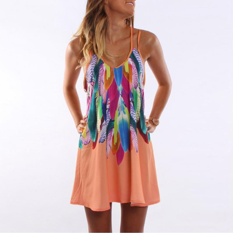 Sexy Printed Plus Size Women Clothing Casual Summer Beach 5