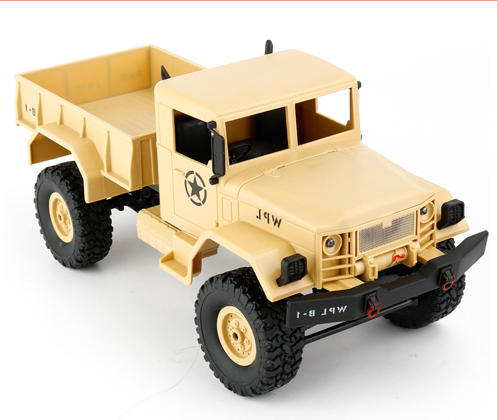 WPL B-1 1:16 scale RC Military Truck toys for boys with radio remote control engineering car toys for children gift