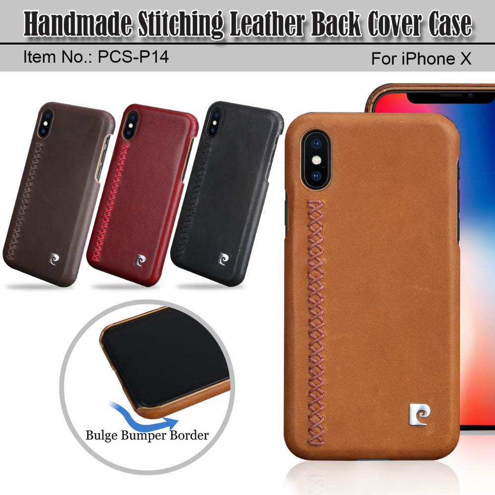 Iphone Xs Case | For Apple IPhone X XS Case Pierre Cardin Brand New Genuine Leather Hard Back Cover With Metal Logo Phone Case Free Shipping