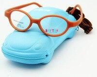 Free Shipping Brand Design Kids Glasses Frame Carbon Fiber Oculos Children Wtih Cute Case