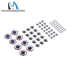 Maximucatch 32-50 Pieces 2 Sizes 8.5mm 10mm Fly Tying 4D Fishing Lure Fish Eyes Fly Tying Lure Lure Making