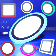 Thinnest 6W/9W/16W/24W round square dimmable LED downlight 3 mode 4 colors LED panel / painel light lamp for bedroom decoration