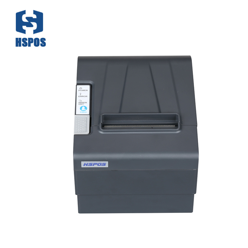 Low noise pos thermal printer billing receipt printing support cash drawer port high quality with USB and Serial wholesale brand new 80mm receipt pos printer high quality thermal bill printer automatic cutter usb network port print fast