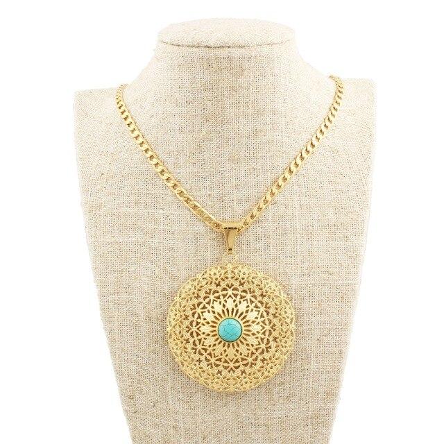 Newest turkey blue stone pendants gold color pendant necklaces newest turkey blue stone pendants gold color pendant necklaces jewelry slide pendants arabic women girls aloadofball Image collections