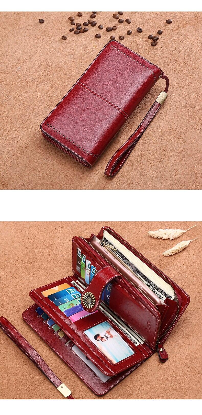 Hot Sale Women's Split Leather Clutch Wallet