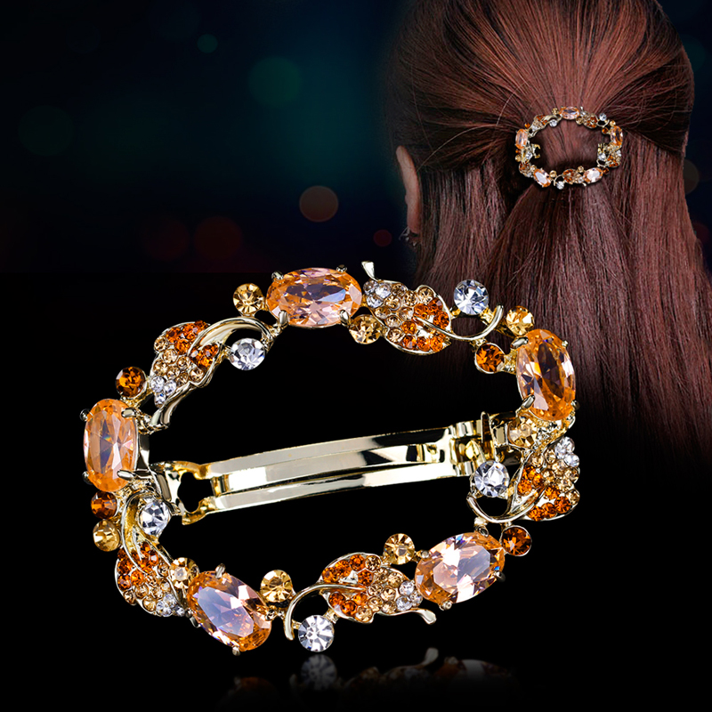New Luxury Hair Cubic Zirconia Jewelry Big Gripper Hairpin Folder Hair Barrette Ornaments Caught Accessories For Wome lysumduoe headband black hairpin women clip s shape barrette girl hairgrip hairgrips children hairpins jewelry hair accessories