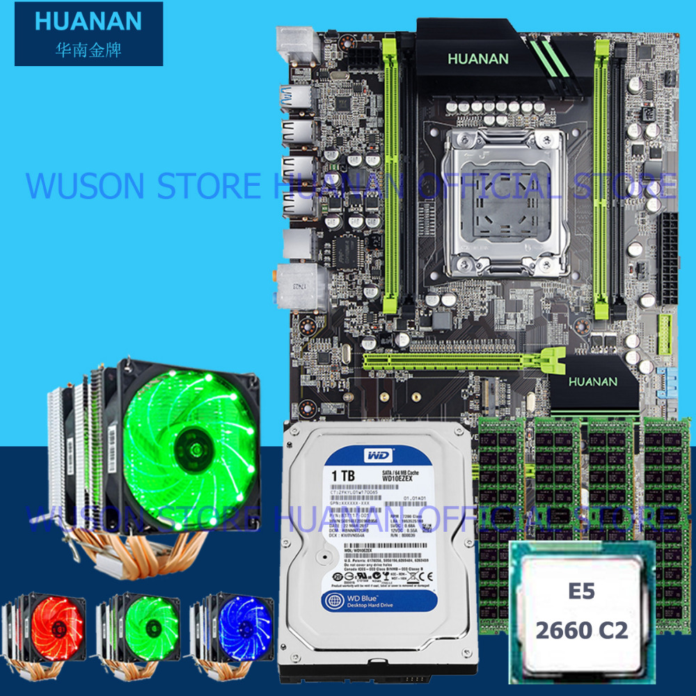 HUANAN ZHI X79 LGA2011 discount motherboard with M.2 slot CPU <font><b>Xeon</b></font> E5 <font><b>2660</b></font> SROKK with cooler RAM 32G 1600 RECC 3.5' SATA 1TB HDD image