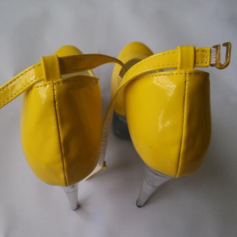 Plate Voir Jaune De À forme Boîte Chaussures Nuit Brillant Spike Laijianjinxia Sexy Travers Hauts Nouveau Femmes Talons Dames Pompes kwX8n0OP