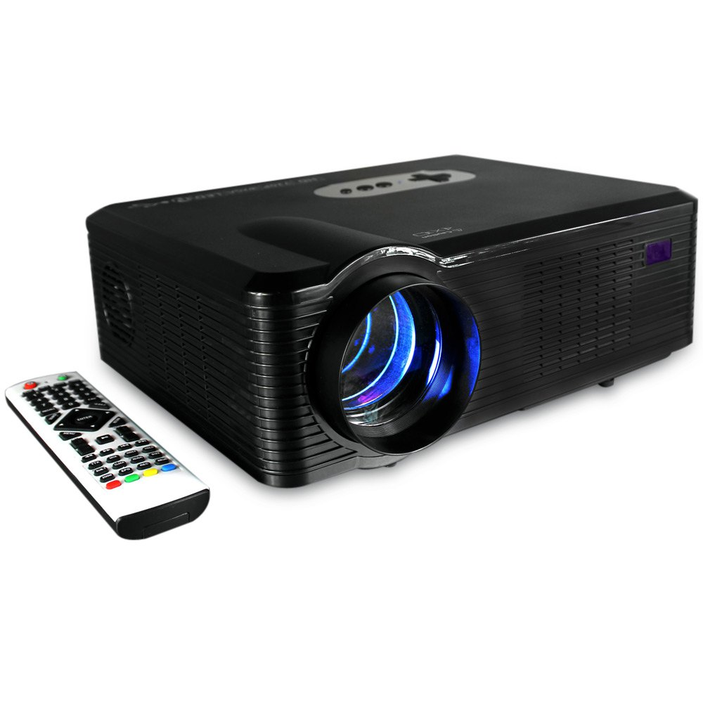 Original Excelvan CL720 LED Projector 3000 Lumens 1280 x 800 HD LCD Projector Analog TV Interface