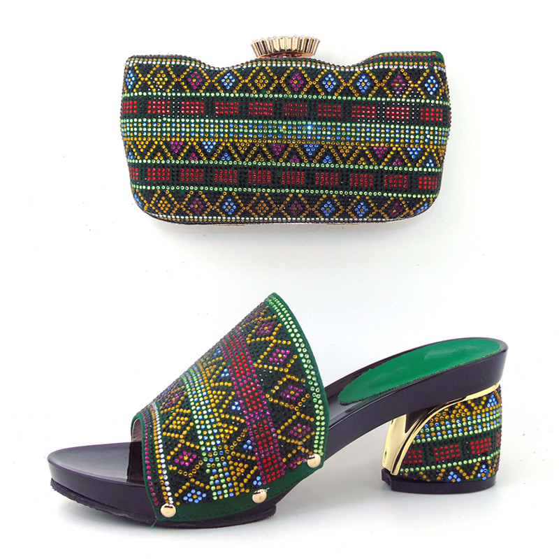 ФОТО High Quality African Shoes And Bags,Fashion Italian Matching Shoes And Bag Set Nigerian High Heels For Wedding Dress!  HHY1-9