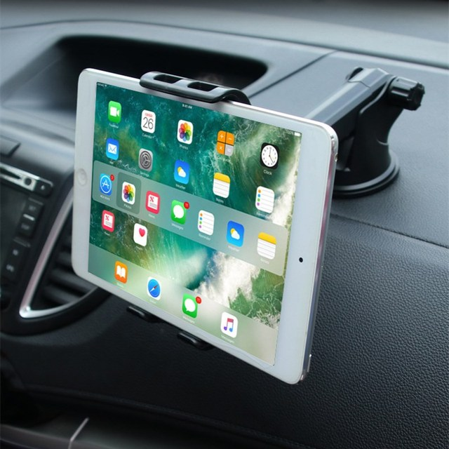 Car Phones Tablets holder for Samsung Honor IPAD pro air mini 1234 7 8 GPS 360Degree adjustable Mobile suction cup bracket stand