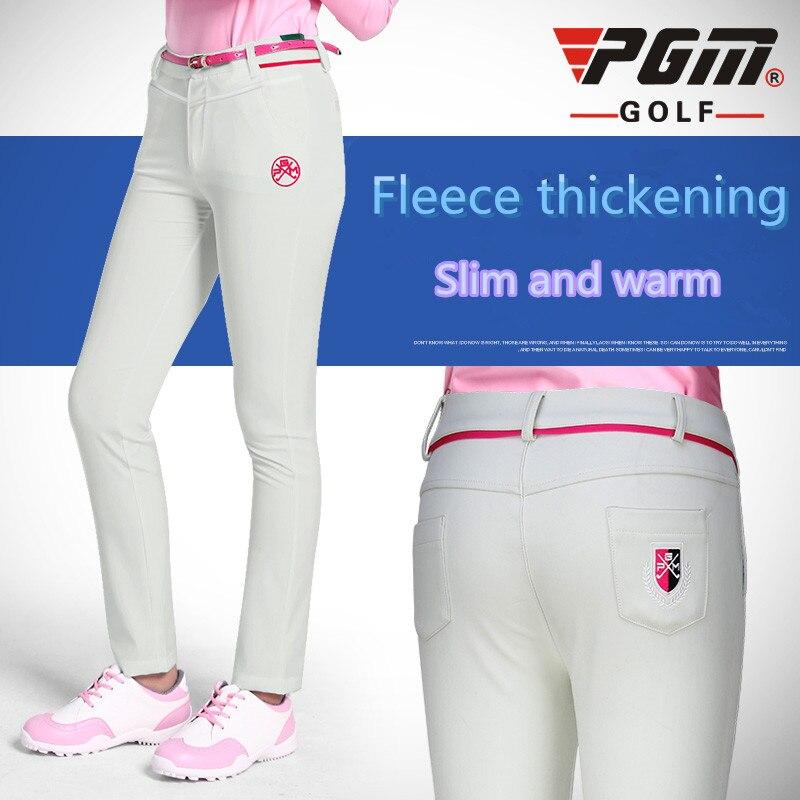 Calças para Golfe Outono e Inverno Quente à Prova Roupas de Golfe Femininas Alta Elasticidade Esportes Bola d' Água Pgm