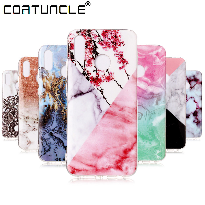 COATUNCLE Soft TPU case sFor Fundas Huawei P20 Lite case For Coque Huawei P 20 Lite Marble Stone Silicone cover phone cases
